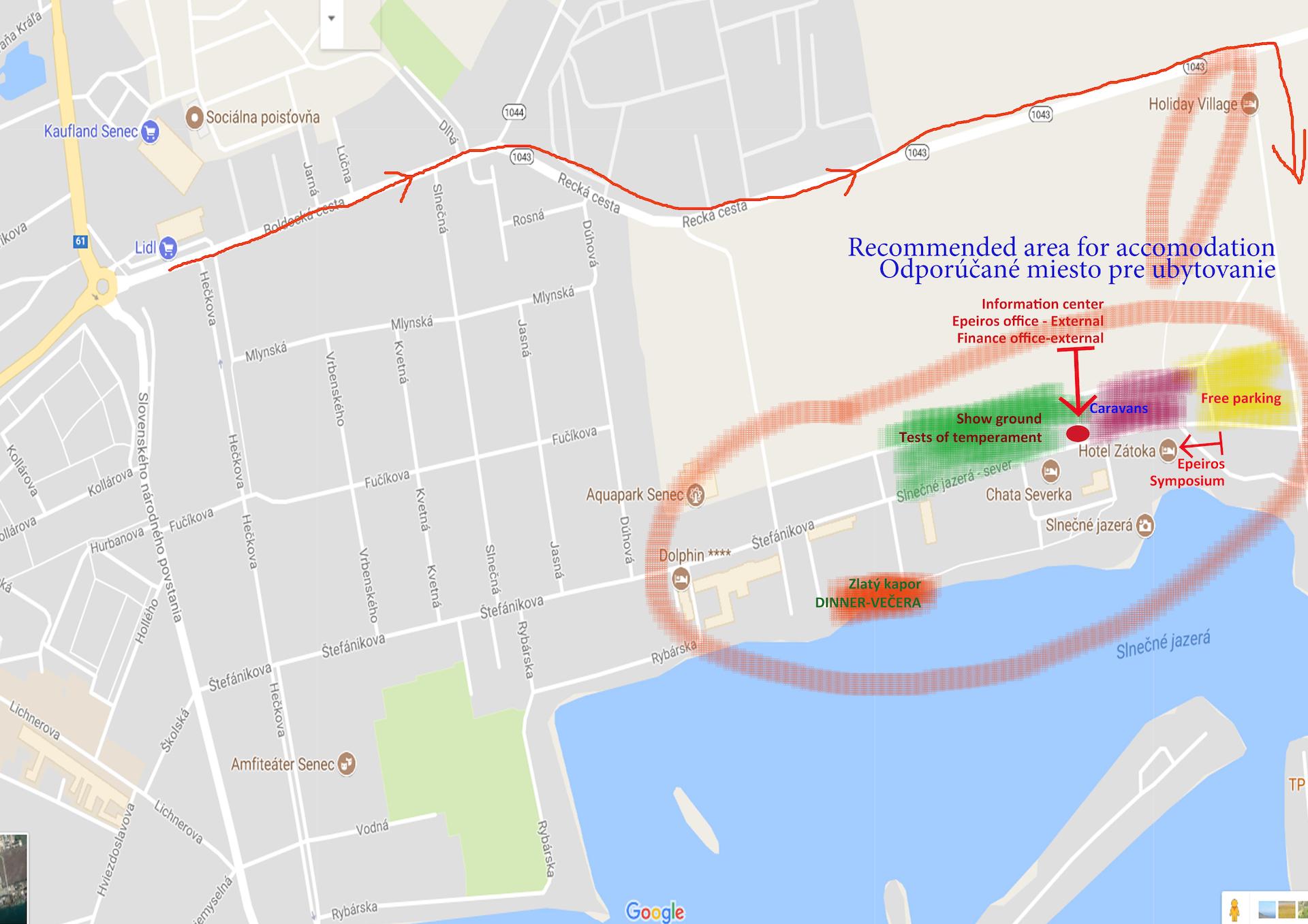 Situačná mapa a mapa s odporúčanými hotelmi